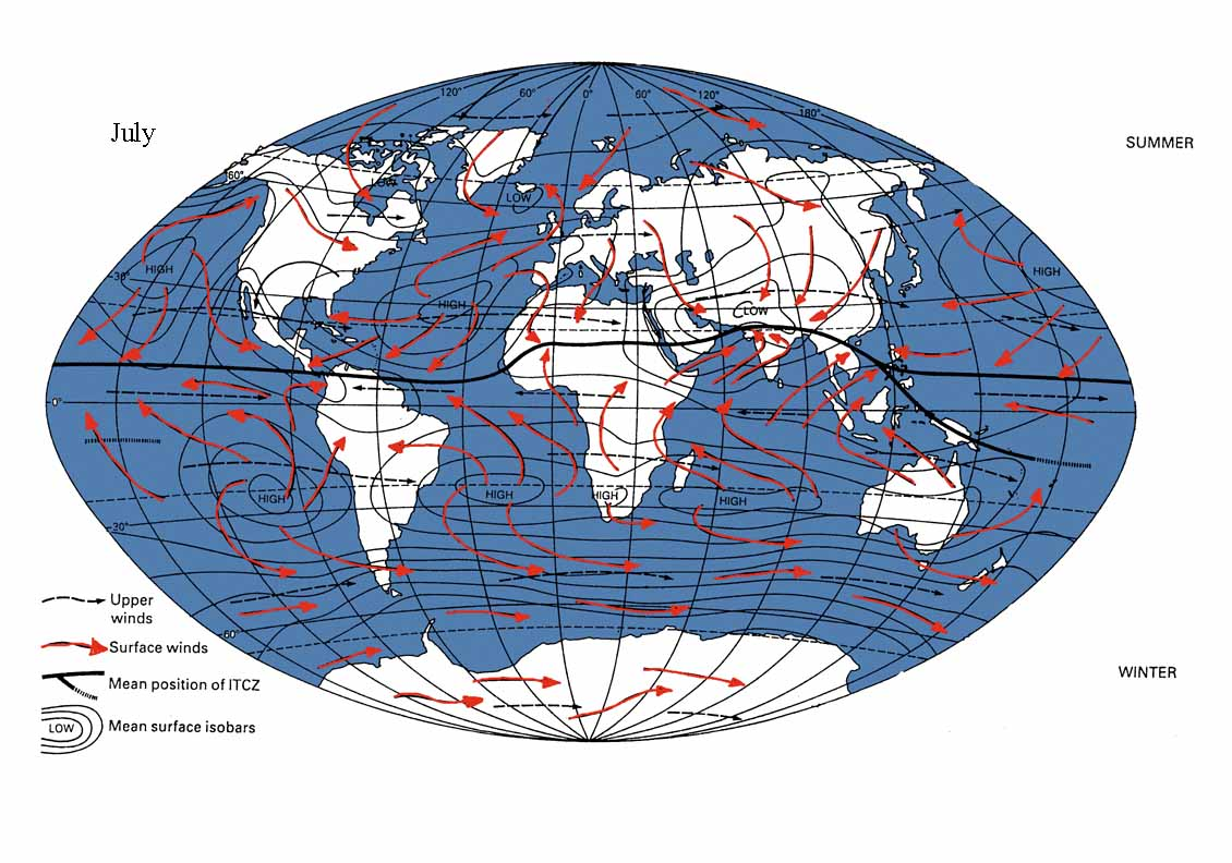 Outline - Us weather map with high and low pressure